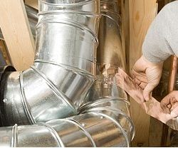 Home Maintenance Tip Check Air Ducts In The Attic Duct Work Heating And Air Conditioning Home Maintenance