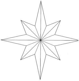 printable christmas star template