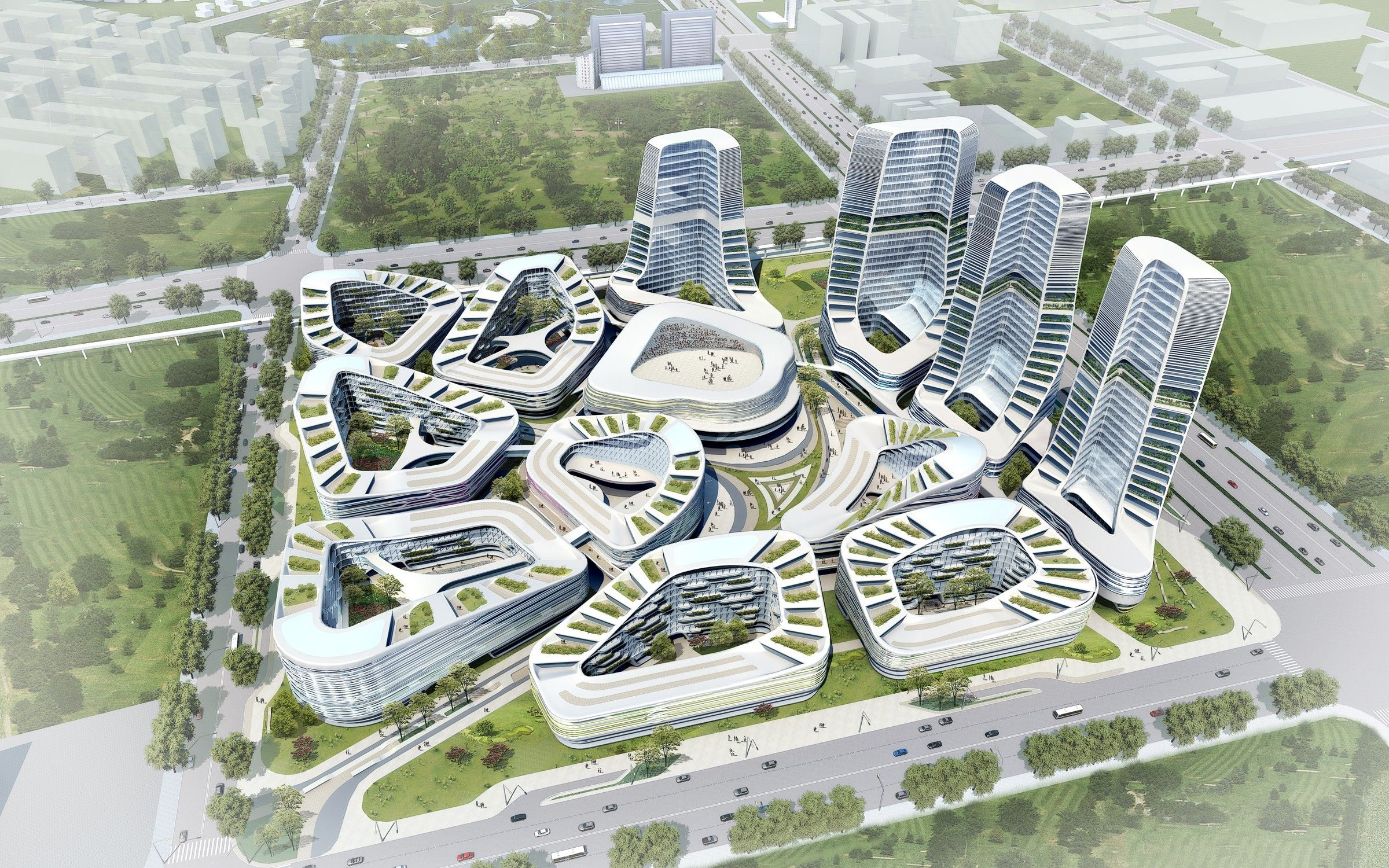 Un Studio International Inbesment Square Beijing Arch Green Pinterest Architecture