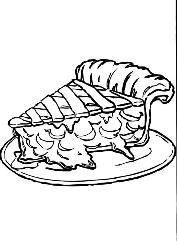 Apple Pie Coloring Pages Fall