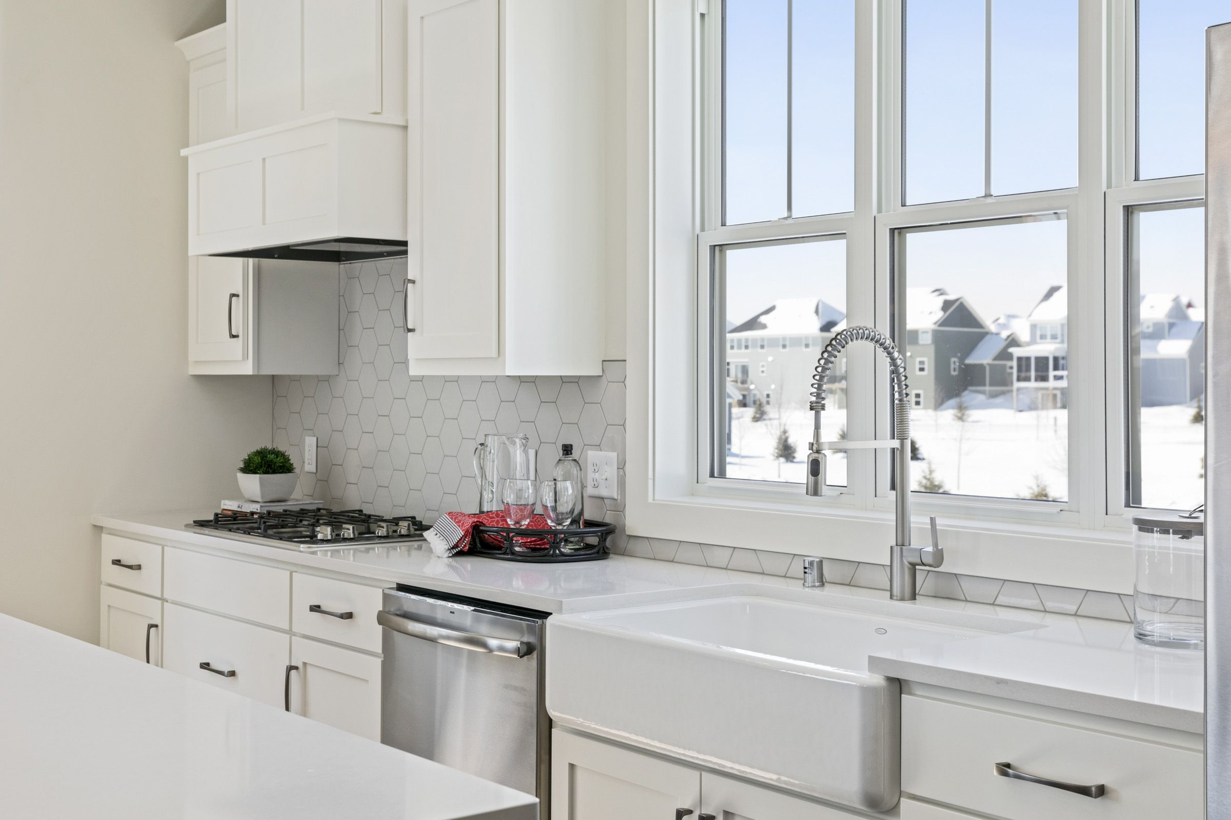 Farmhouse Sink Custom Cabinets Gorgeous View 1850 Floor Plan Home Kitchens Kitchen Inspirations Home Builders