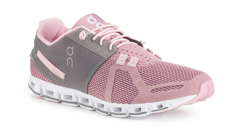 Cloud rose charcoal shoe cushioned running shoes