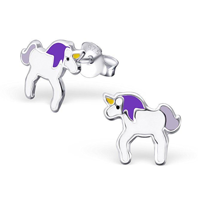 NEW Solid 925 Sterling Silver 9mm Pony Stud Earrings