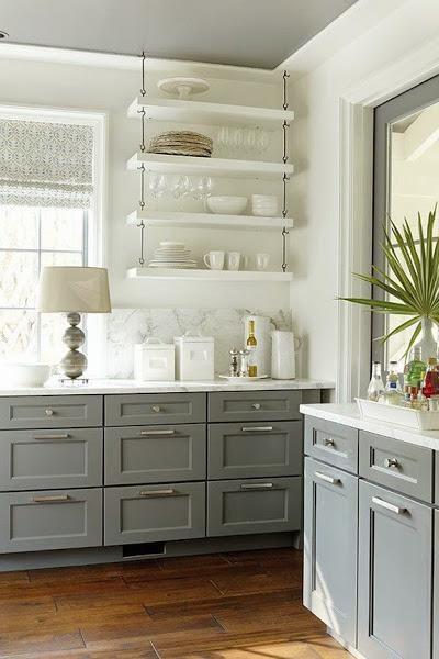Cocina blanca y gris | Cocinas grises | Pinterest | Cocina blanca ...