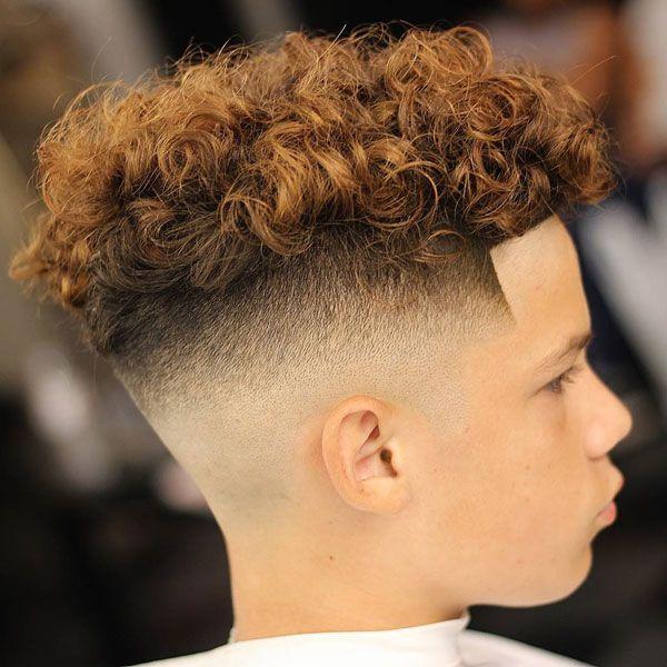 Short Curly Hair Fade Boy