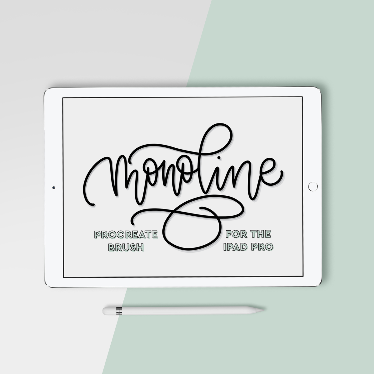 Procreate Brush Ipad Lettering Monoline Brush