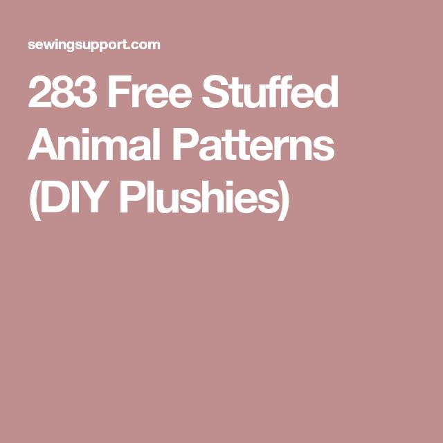 280+ Free Stuffed Animal Patterns | Crafts | Pinterest