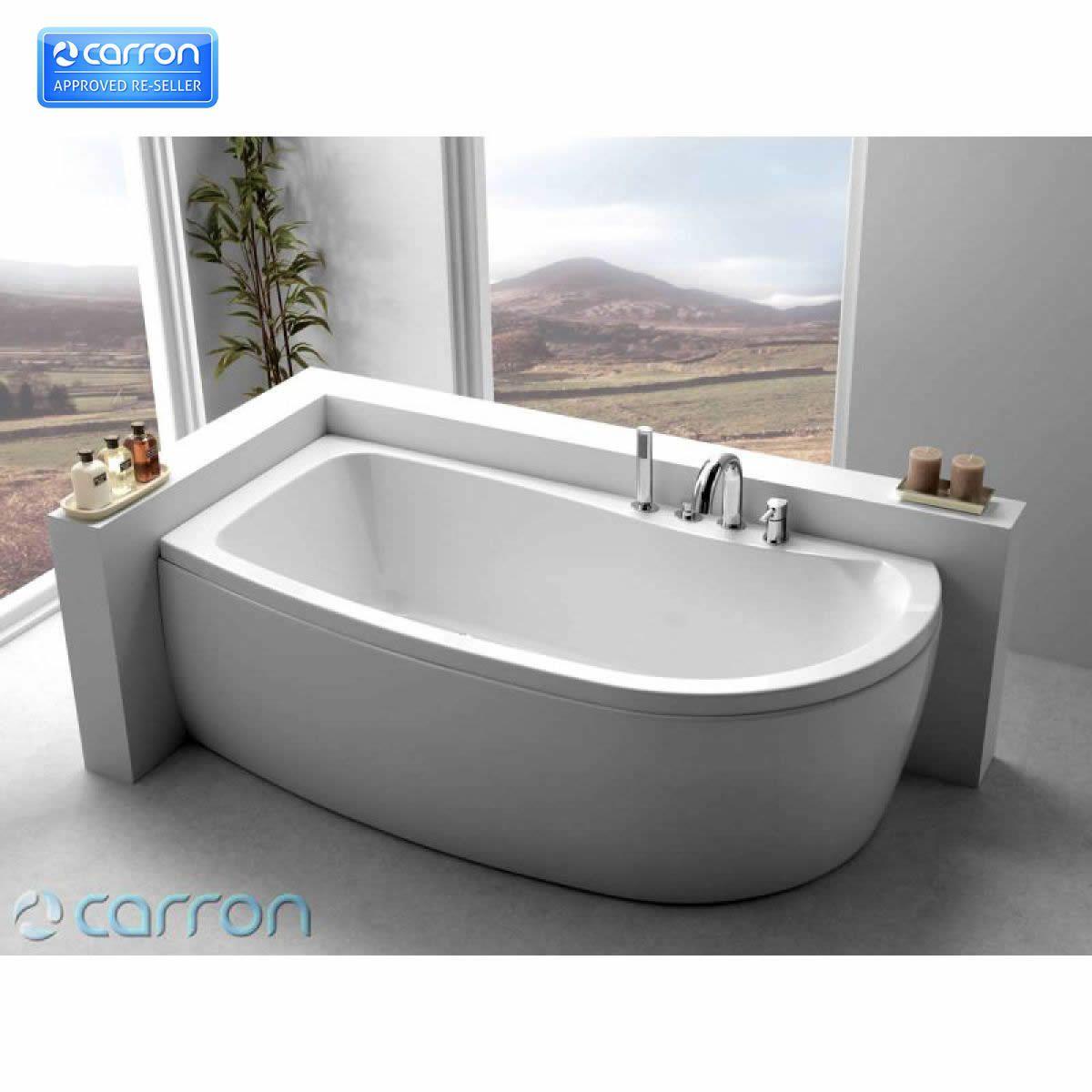 Carron Agenda 1700 x 700mm Corner Offset Shower Bath   Bathroom ...