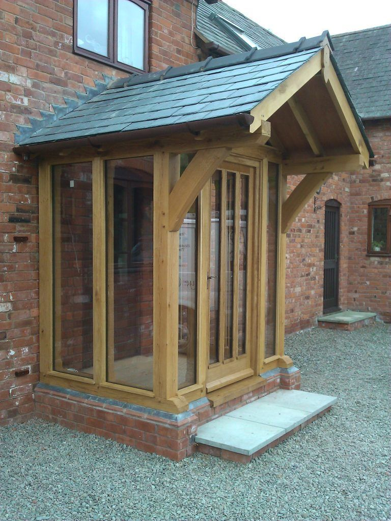 Oak Frame Enclosed Porch With Full Height Glass Gazebohouse