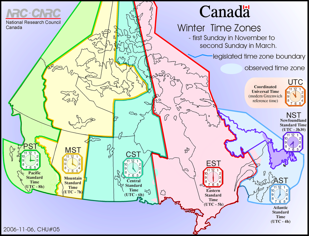 Labled Time Zone Map Of Canada 15 Interesting Maps That Will Change The Way You See Canada   Time