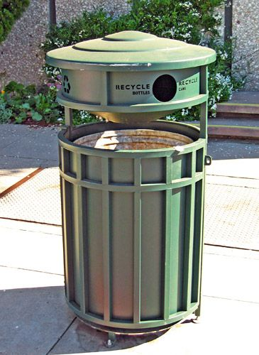 Pack 15pc 23 Gallon Green Slim Recycling Can And Green Lid With Holes Hospital Trash Can Medical Waste Bin Warehous Trash Can Kitchen Trash Cans Trash Bins
