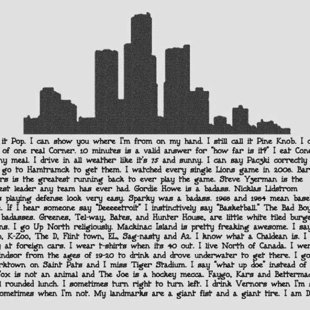 Detroit. | Made in Detroit | Pinterest