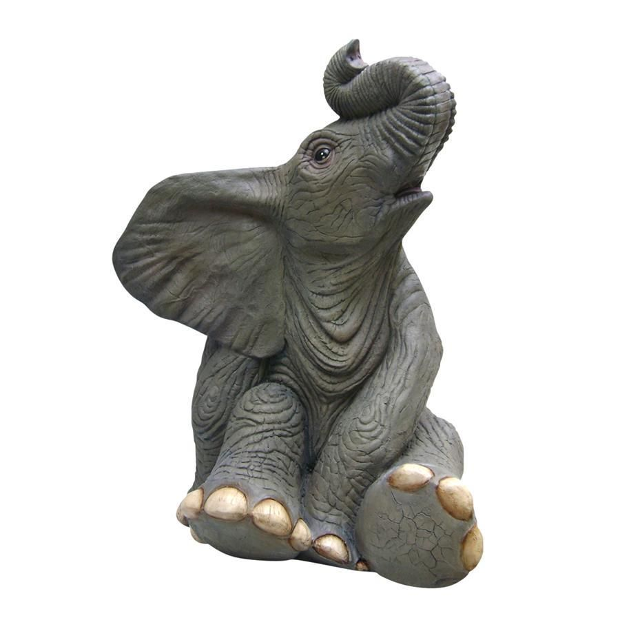 Sitting Baby Elephant Home Decor Statues Products Baby Elephant