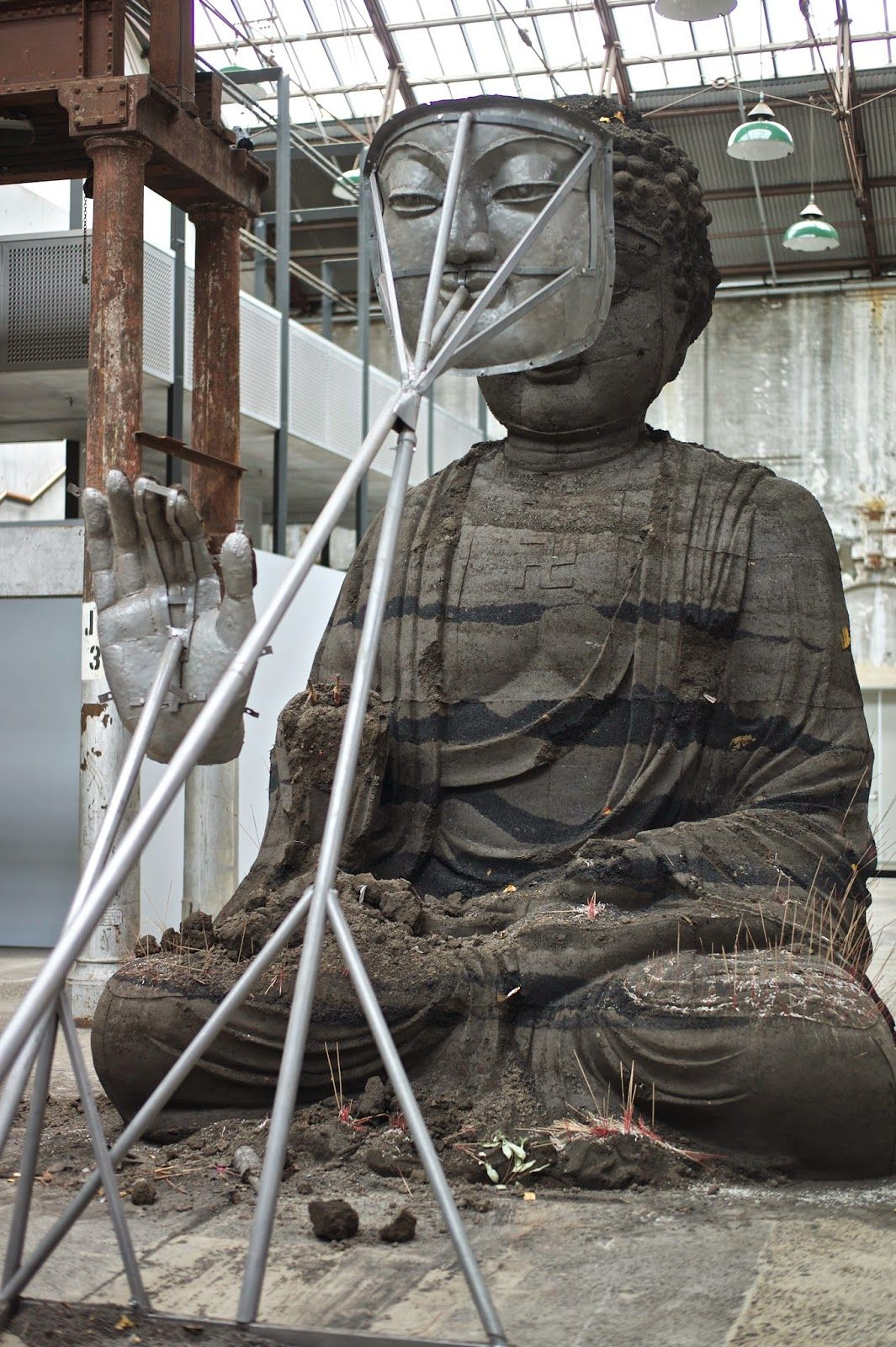 Sydney Buddha by Zhang Huan - Carriage Works Sydney | GlobalGoodFood