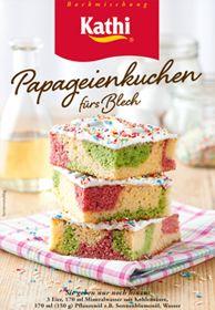Blech Papageien Papagei Kuchen Kuchen Papageienkuchen