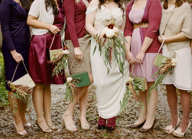 Handmade Fall Barn Wedding: Tara + Nick   For my bridesmaids ...