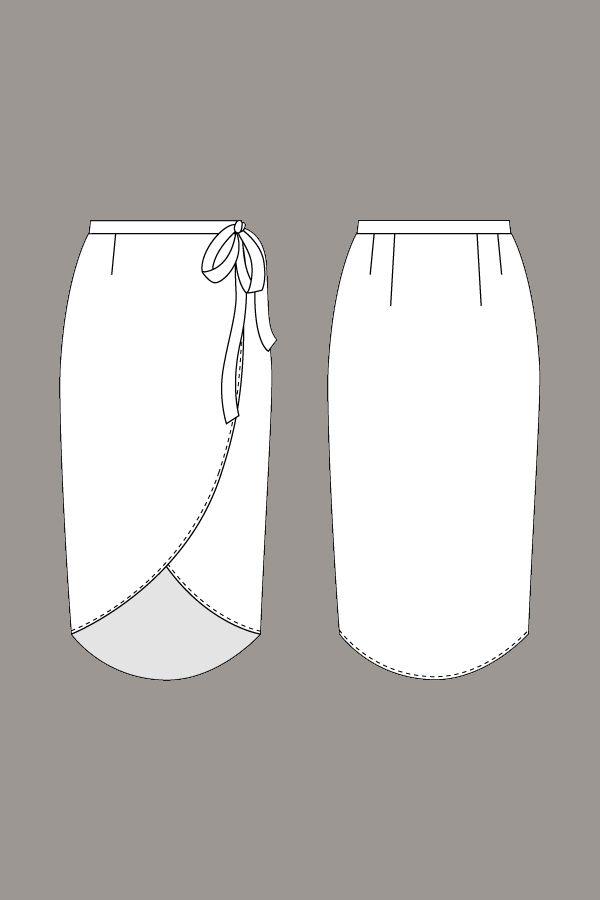 Reese Wraparound Skirt - Named   Fichas Tecnicas   Pinterest ...