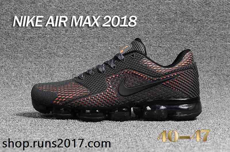Nike Air Max 2018 KPU 5+ Men Carbon Gray Orange Shoes  1240294a92