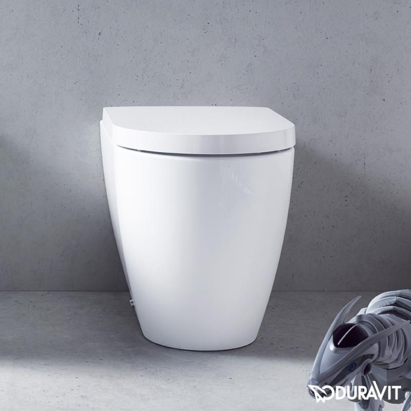 Duravit Me By Starck Floor Standing Washdown Toilet Back To Wall White With Wondergliss Duravit Philippe Starck Wall Hung Toilet