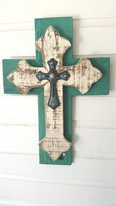 Shabby Chic Wall Cross Holiday Rustic Wood Hanging Décor Christmas Gift