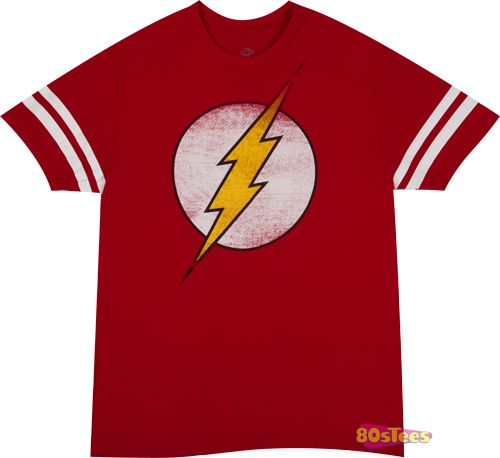 fd737670 Sheldons Flash Jersey Shirt | New Mens T-Shirts From 80sTees.com ...