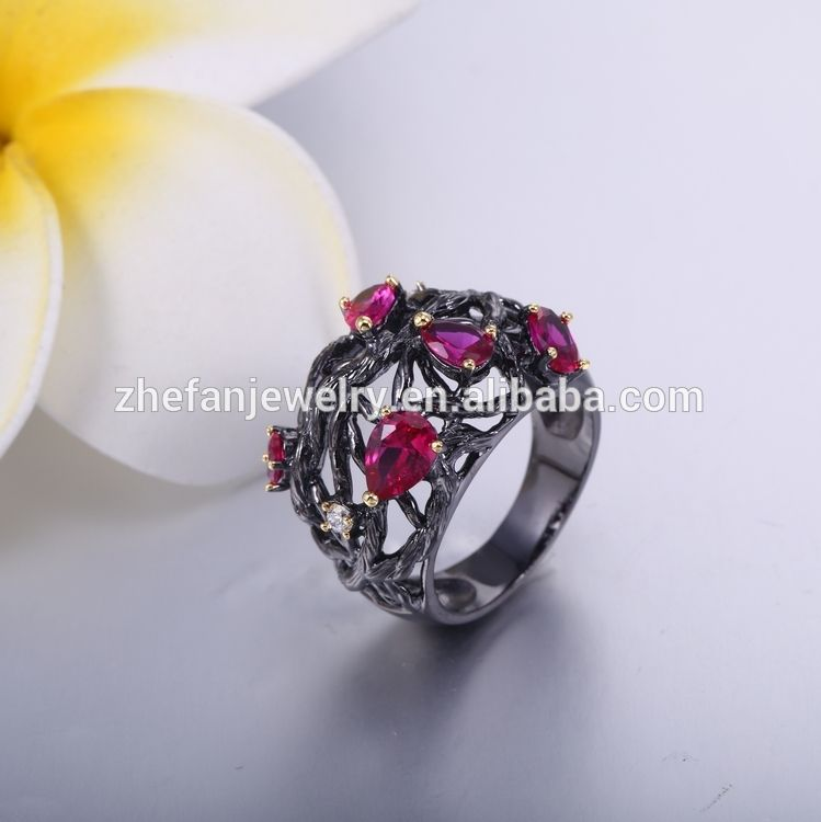 Ruby Stone Silver Ring Designs For Men Gay Men Ring cheap price