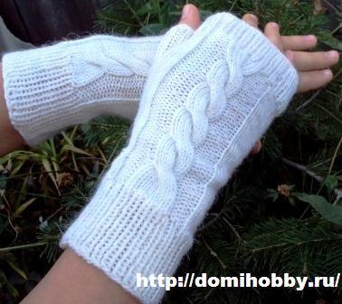 Митенки на руки своими руками спицами