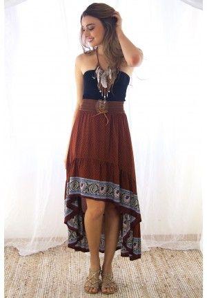 Harlem Shake Rust Skirt