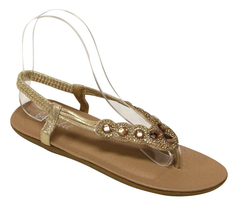 294d72f1d31729 Bonnibel Fifi-3 Women s beads rhinestone thong elastic ankle strap flat  sandals    Click