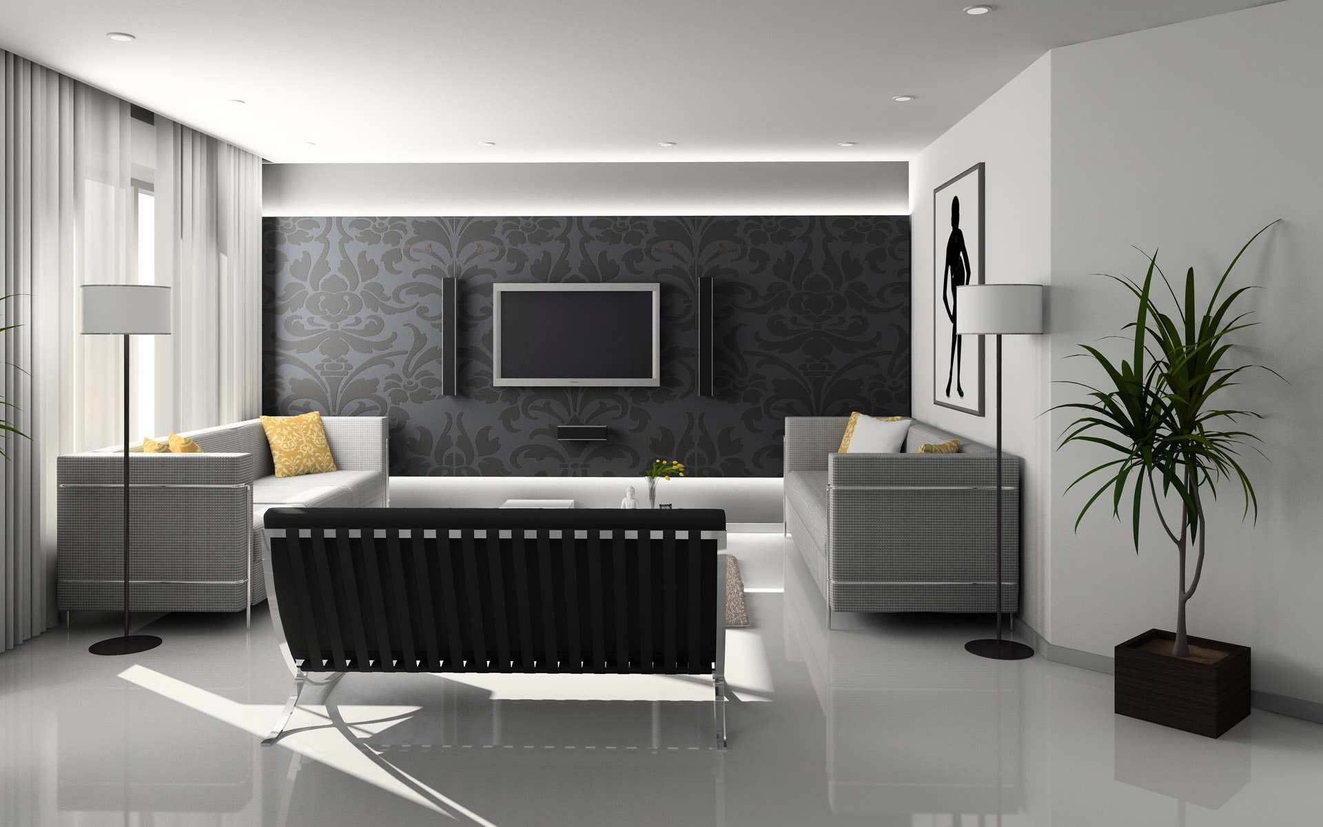 Contoh Hiasan Ruang Tamu Home Design Interior Designing Simple