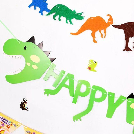 Dinosaur Birthday Banner Jurassic Park Party T Rex Supplies World Decorations Boy