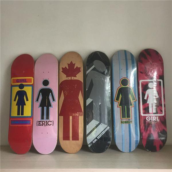 Girl Rare Vintage Canadian Maple Skateboard Decks 7 5 Skateboard Decks Skateboard Skateboards