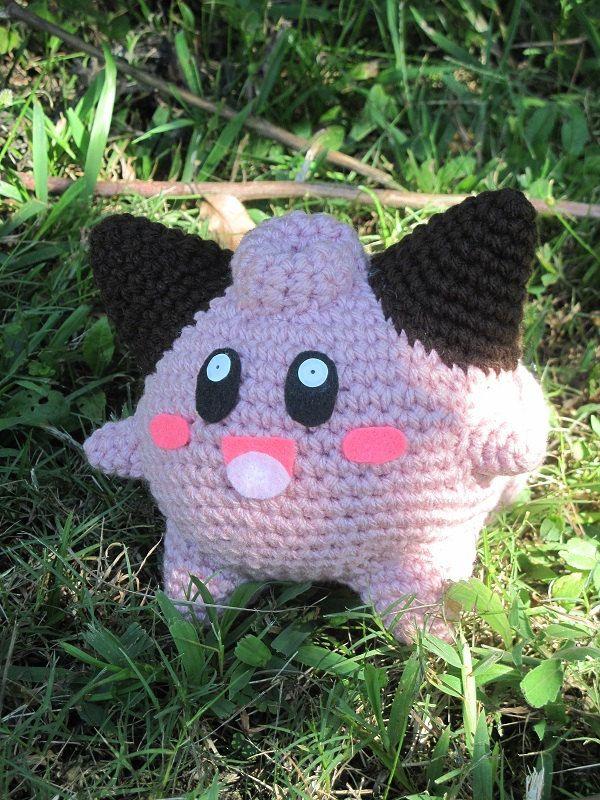 Ready to Ship - Crochet - Pokemon Amigurumi Cleffa | pokemon | Pinterest