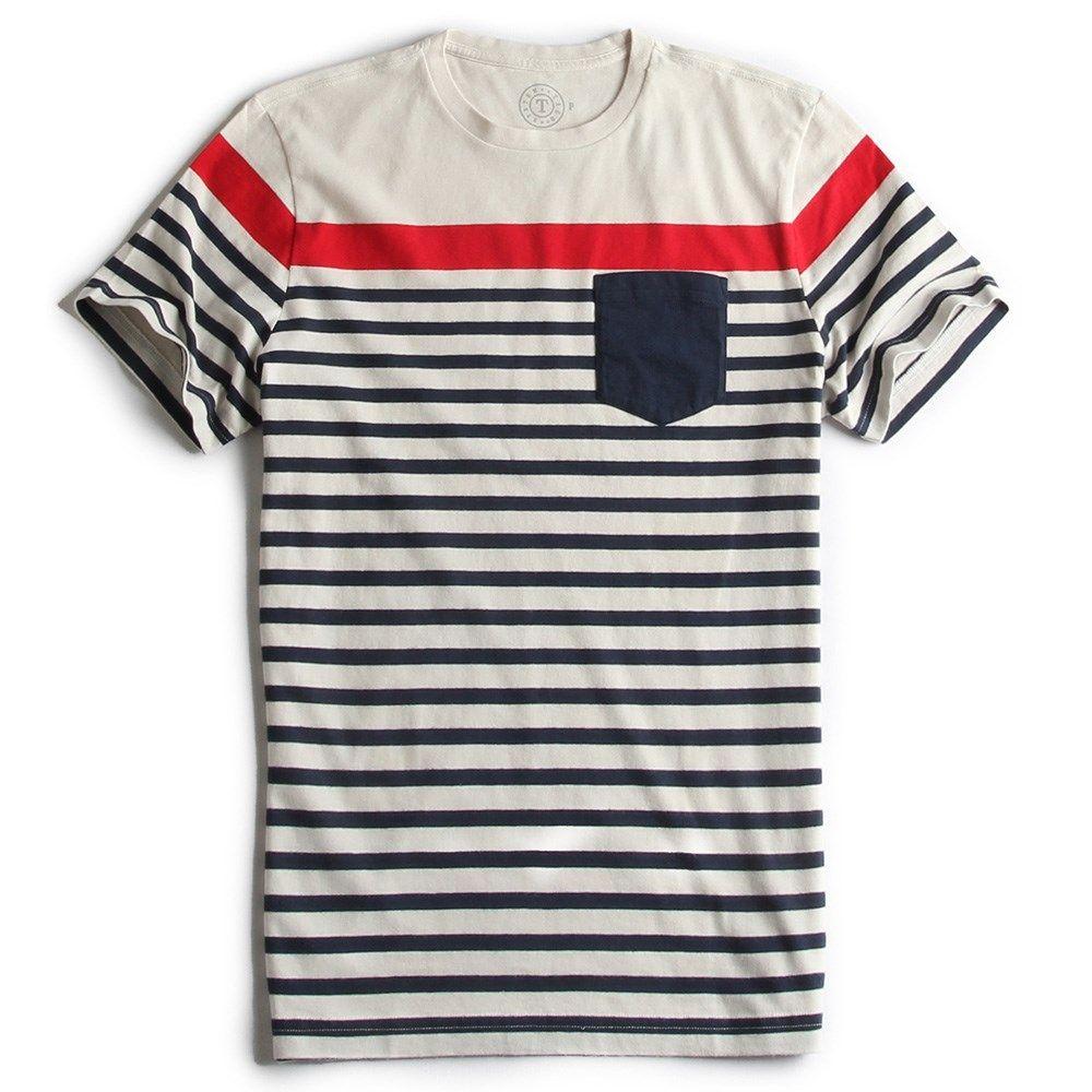 T-SHIRT LISTRADA OFF WHITE - Taco Camisetas Masculinas 899795cf2e7f5