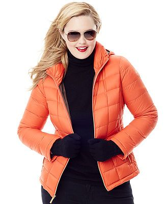 c3bbba260c1ce MICHAEL Michael Kors Plus Size Hooded Quilted Down Packable Puffer Coat -  Coats - Women - Macy s