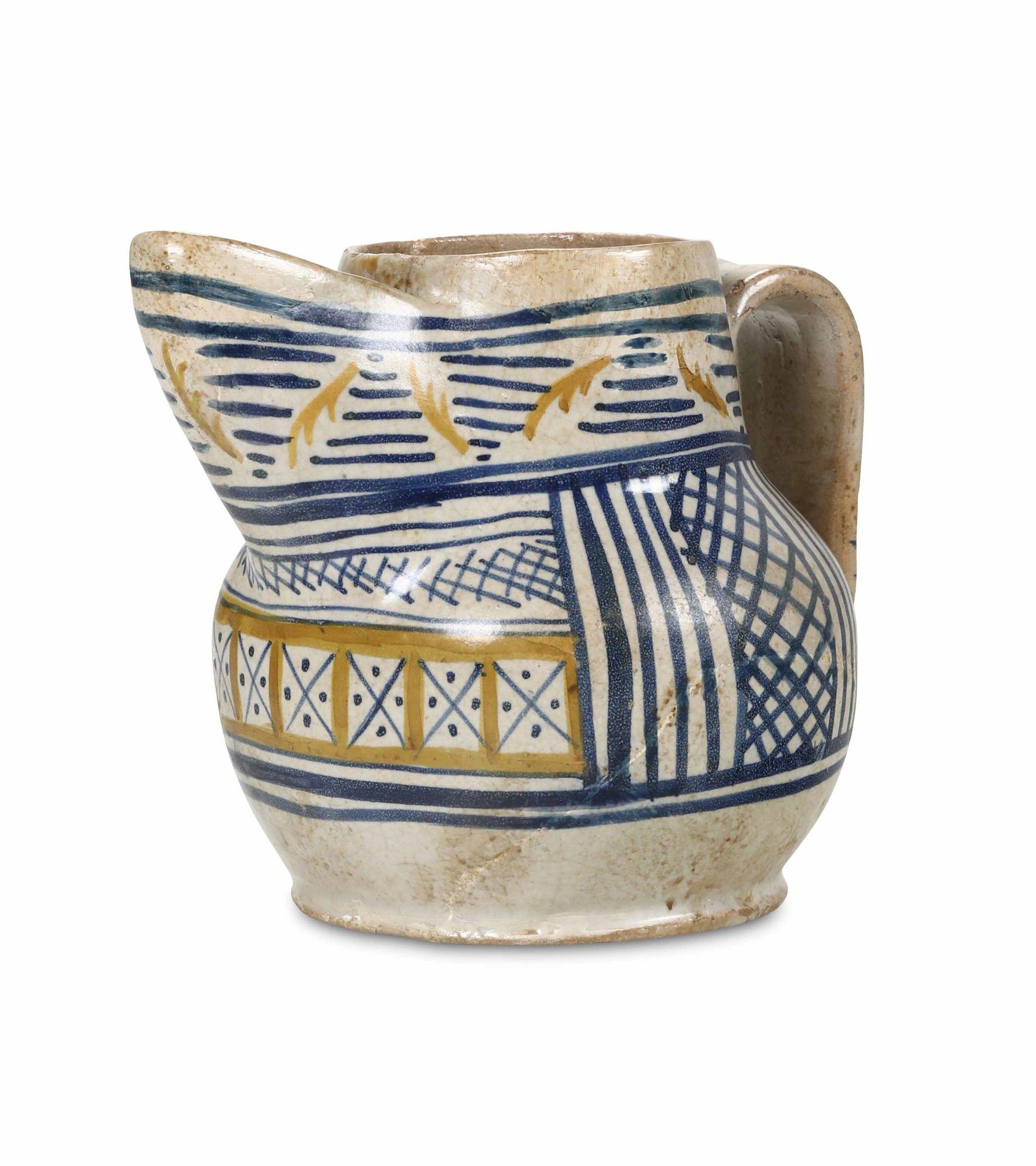 Area Ceramica Civita Castellana.Boccale Panata Lazio Area Civita Castellana Xiv Secolo Maiolica Xiv Secolo Castellana