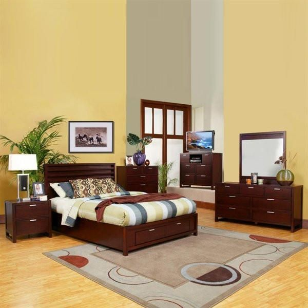 Alpine Ta 08 F Full Size Storage Platform Bed Cheap Bedroom Furniture Bedroom Sets Alpine Furniture