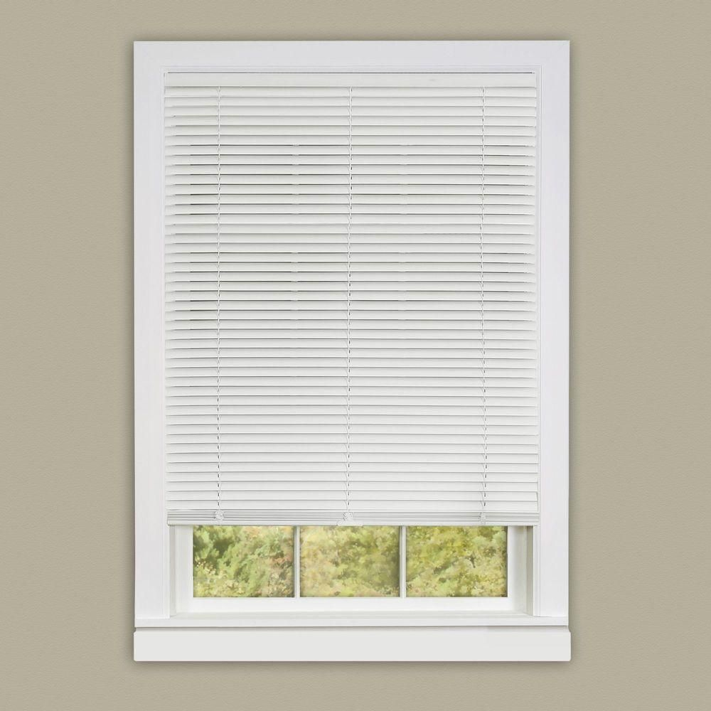 Achim Alabaster Cordless 1 In Vinyl Deluxe Sundown Room Darkening Mini Blind 23 In W X 64 In L Dsco23al06 The Home Depot In 2020 Cordless Blinds Horizontal Blinds Mini Blinds