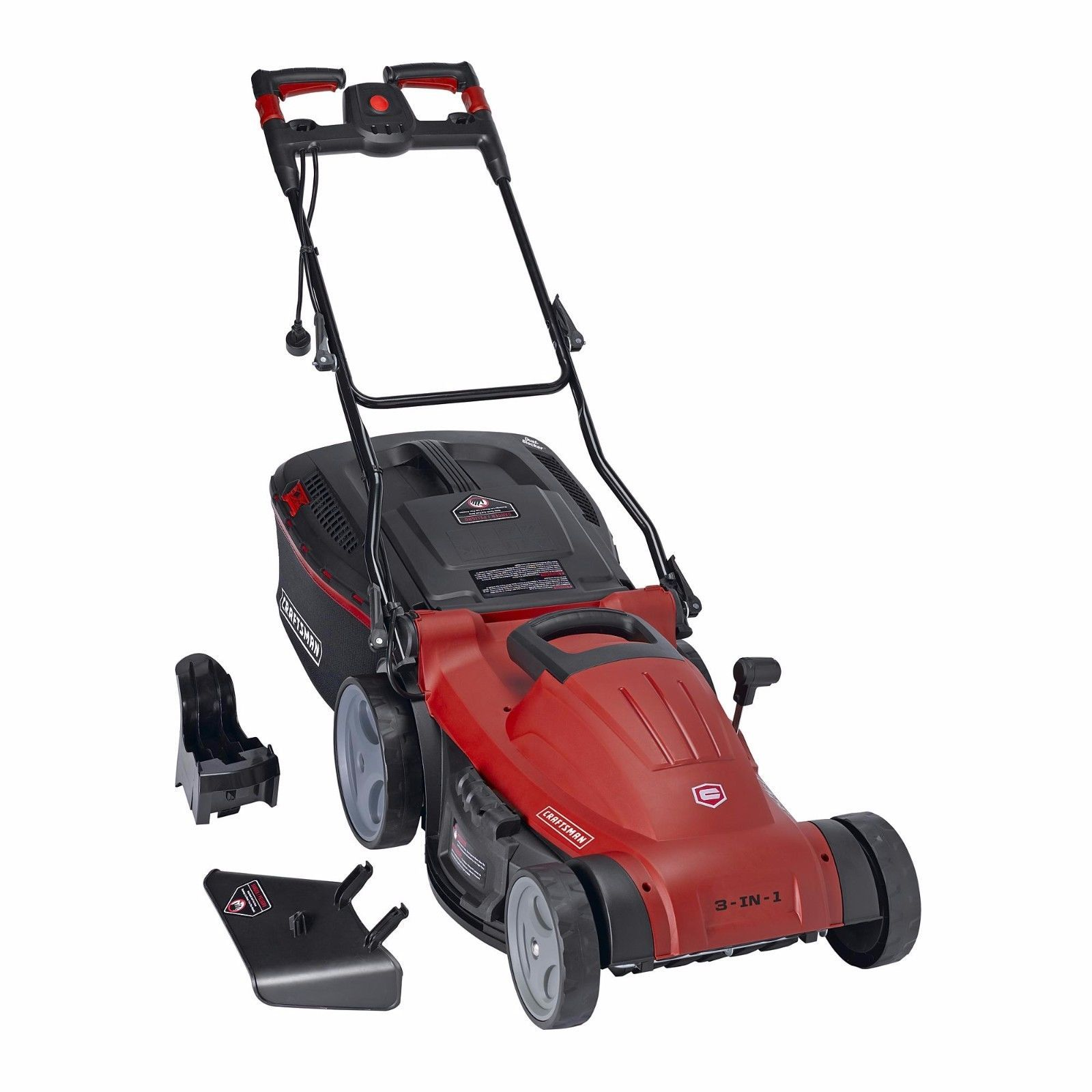 Craftsman 3 In 1 19 In Electric Push Lawn Mower 12 5 Amp Grass Cutter Mulcher Push Lawn Mower Grass Cutter Mower