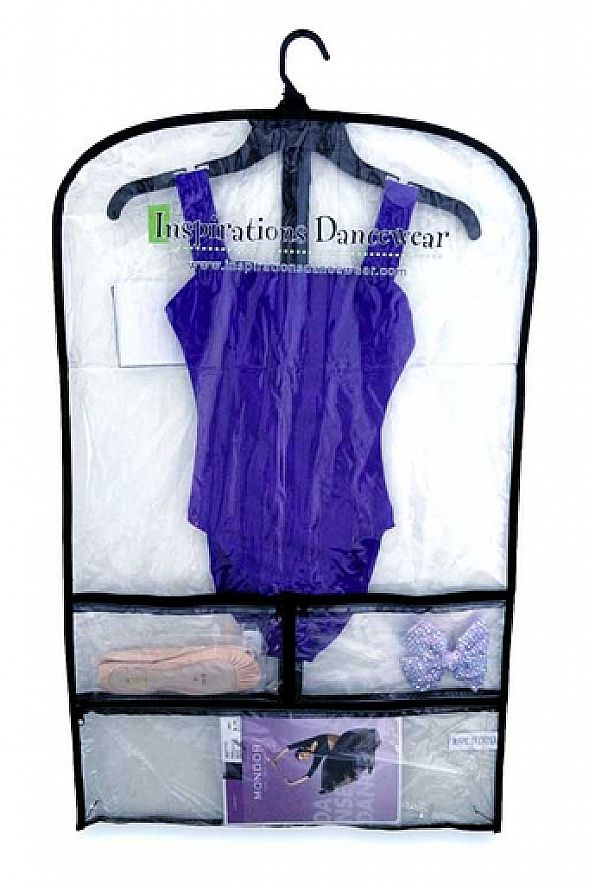Inspirations Clear Garment Dance Bag Costume Bags Organization Accessories