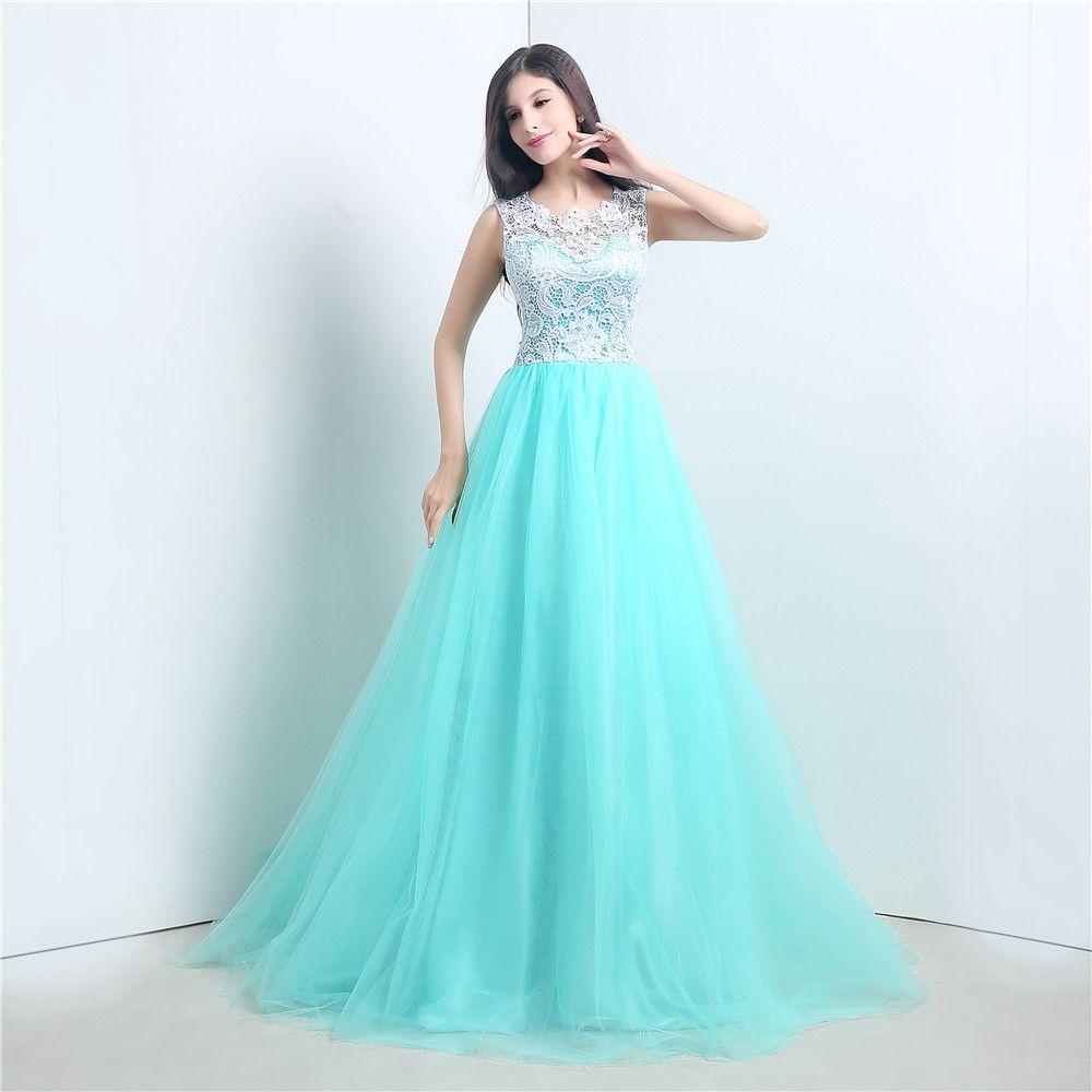 e2c33b145 Vestidos De Noche Color Menta. A todas nos gusta estar vestidas de ...