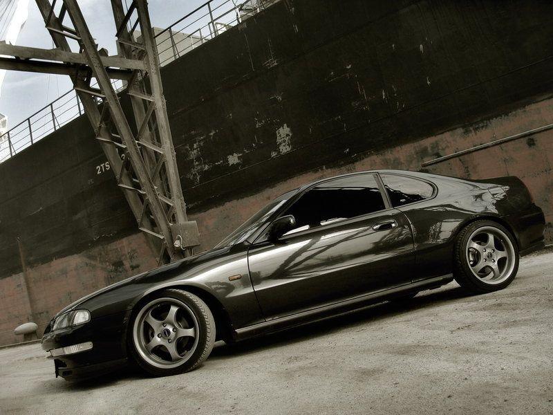 Black Honda Prelude Si Add A Spoiler And Make It Silver