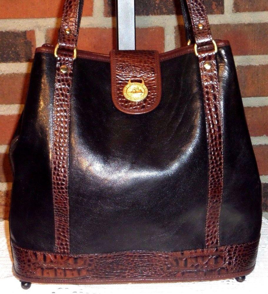 Brahmin Tuscan Collection Leather Shoulder Hobo Tote Satchel Bucket Purse Bag Shoulderbagcrossbody