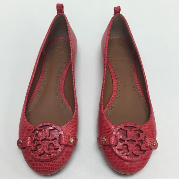 31d3de7ff TORY BURCH Mini Miller Red Flats Authentic red Tory Burch Mini Miller flats.  Like new! Tory Burch Shoes Flats   Loafers