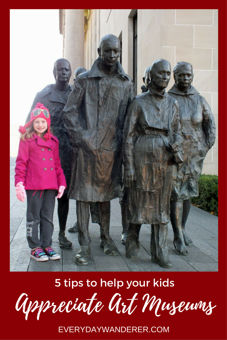 Help your kids appreciate art #art #traveltips #museum #artmuseum #familytravel