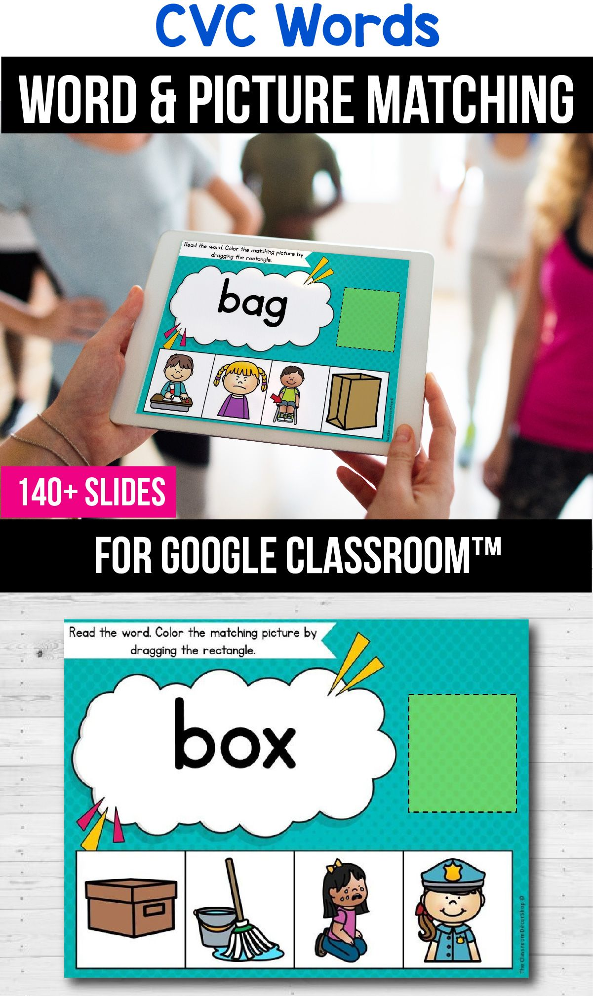 Classroom Packets Cvc Word Distance Learning