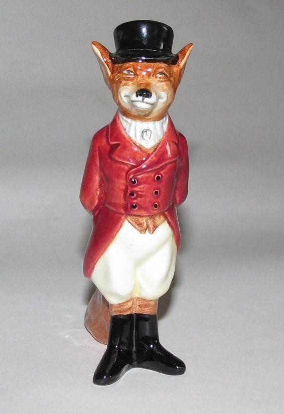 vintage Royal Doulton Fox figurine-retired, vintage foxhunting, fox