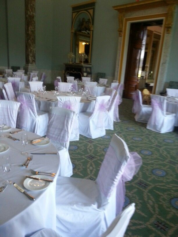 chair covers wedding yorkshire stakmore folding chairs vintage looking lovely in lilac wynyard hall ballroom white and sashes