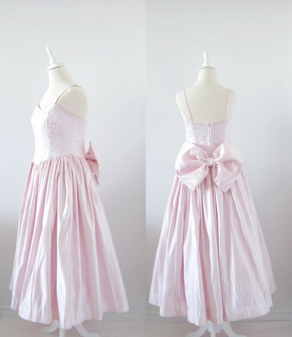 On Reserve-Vintage Prom Dress - 1980s - Full Skirt - Pastel Pink ...