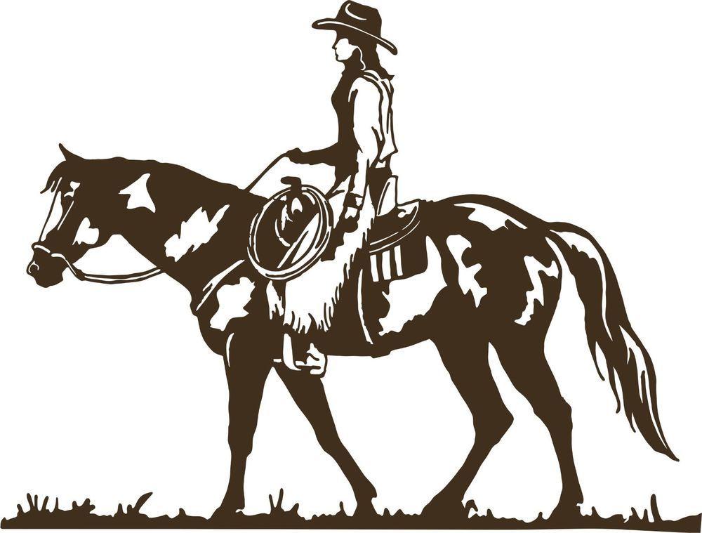 Western Cowboy Equestrian Rodeo Horses Car Truck Window Vinyl Decal Sticker